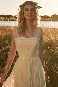 Boho Kleid Hochzeitsgast : rembo styling kollektion 2017 jacky cremefarbenes vintage kleid mit knopfleiste und spitzen ~ Yasmunasinghe.com Haus und Dekorationen