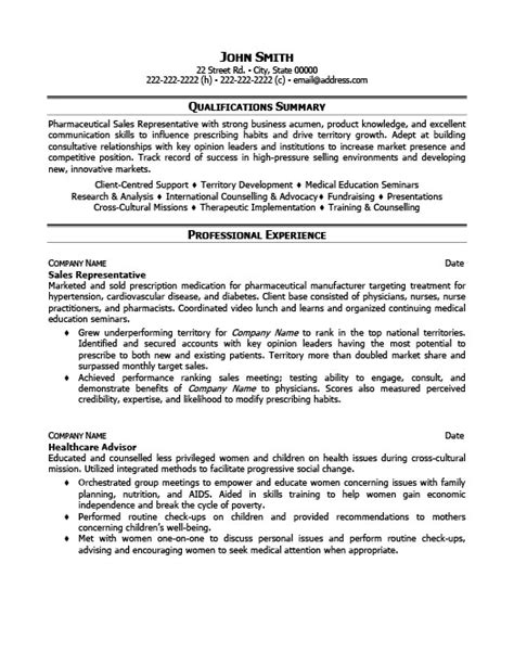 Sle Of Resume For Sales Representative by Sales Representative Resume Template Premium Resume