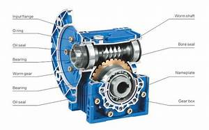 Rv Type Worm Gear Reducers Electric Motor And Worm Gear