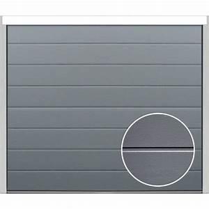 porte sectionnelle velocia rainure woodgrain gris With porte de garage sectionnelle spadone