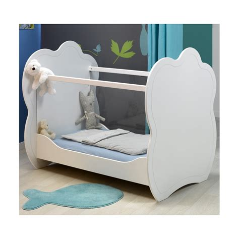 chambre bebe plexiglas lit bébé plexi blanc 60x120 louiblcm01