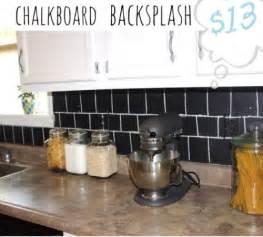 Easy Diy Kitchen Backsplash 5 Diy Chalkboard Kitchen Backsplashes To Make Shelterness
