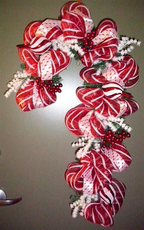 outdoor candycane ribbon deco mesh and ribbon wreath ribbon