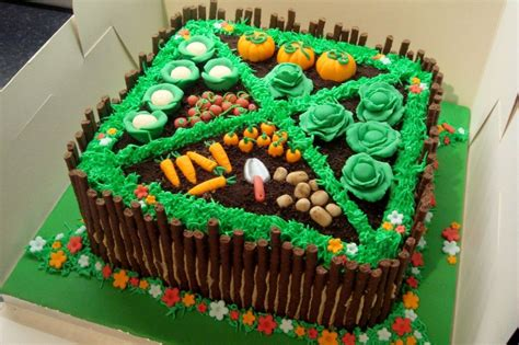 Garden Decoration For Cake by Vegetable Garden Allotment Cake With Sugar Paste