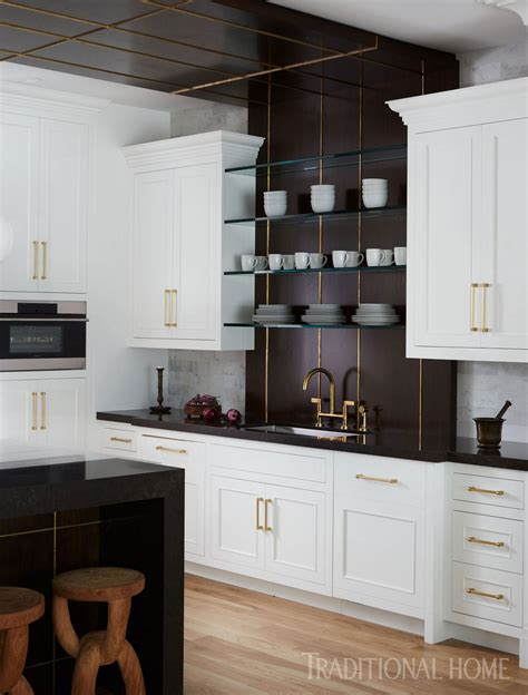 striking hamptons showhouse kitchen traditional home