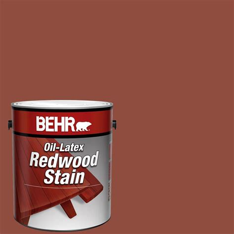behr  gal redwood solid color oil latex exterior wood