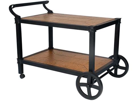 landgrave estonia cast aluminum serving cart 14019c