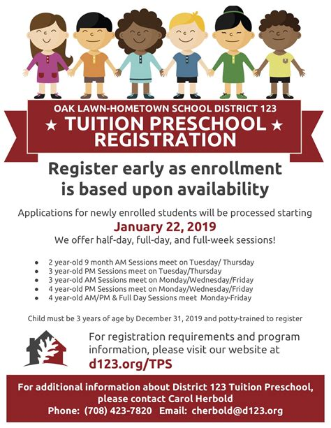 2019 2020 tuition preschool registration information 469 | 2019 2020 C