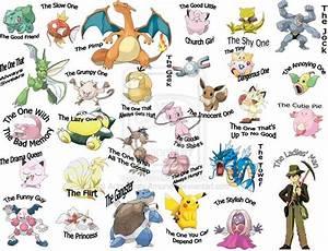 Pokemon Names | Pokemon Friends List by ~AchromaticAmunet ...