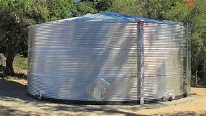 Classic Corrugated Galvanized Steel Water Tank  52 395 Gallons