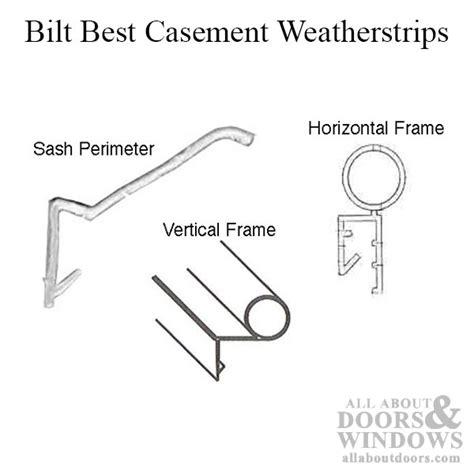 foot leaf weatherstrip bilt  caradco hurd casement  awning sash frame tan