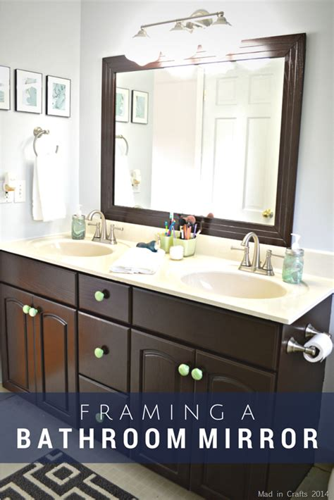 How Do You Frame A Bathroom Mirror by Steps To Make Your Own Framed Bathroom Mirror