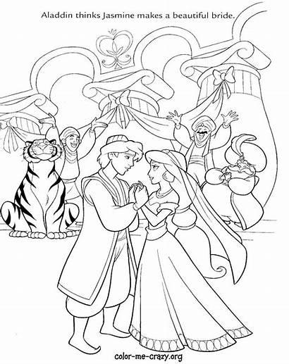 Coloring Pages Disney Princess Printable Aladdin Drawing