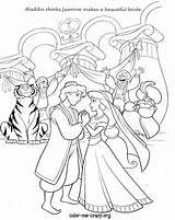 Coloring Pages Disney Wedding Princess Printable Jasmine Aladdin Cinderella Couples Drawing Party Print Wishes Bride Colouring Sheets Pocahontas Cana Getcolorings sketch template