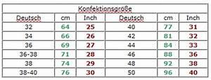 Hosengrößen tabelle damen