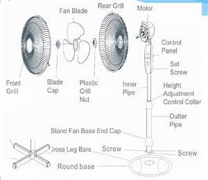 Cheap Silent Industrial Pedestal Fan Parts Fan