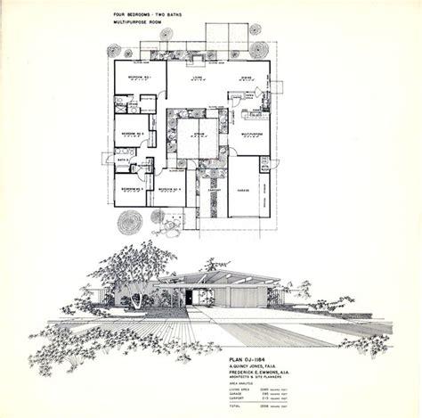 floor plan   eichler home designed   quincy jones