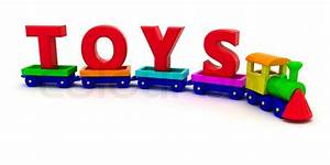 red letters toys on the toy train stock photo colourbox With letter writing toy