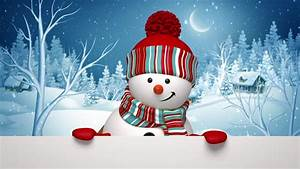 Christmas Snowman Salutation, Animated Greeting Card, 3d ...