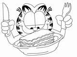 Lasagna Garfield Desene Coloring Colorat Qbebe sketch template