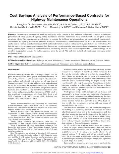 100 highways maintenance engineer sle