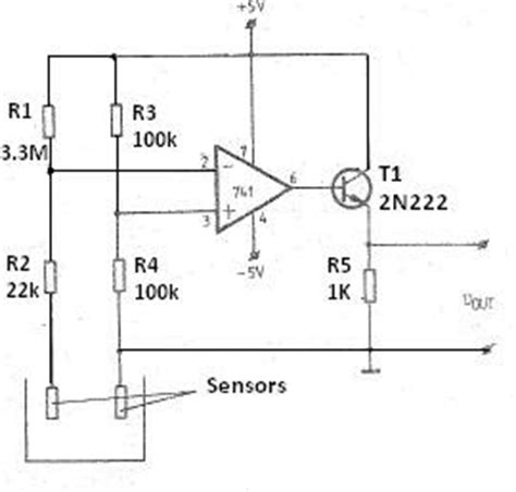 Liquid Level Sensor Using Amp Free Electronic