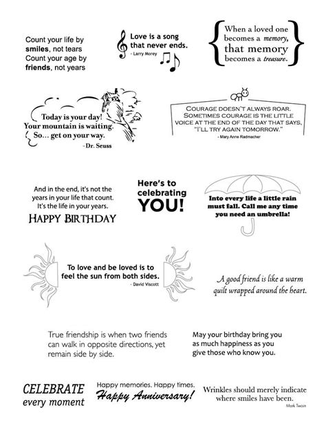 You should be able to find lots of them this way. CC9_2011_Sentiments.jpg 800×1,050 pixels | Card sayings, Verses for cards, Greeting card sentiments