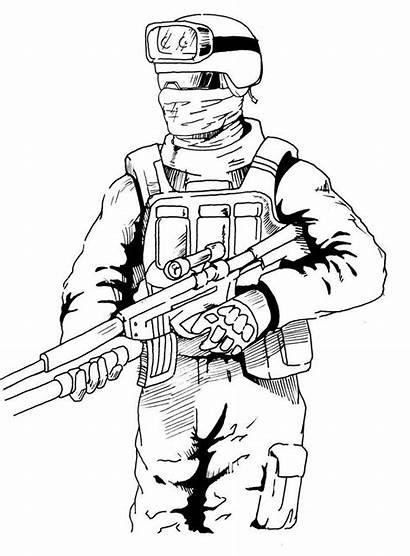 Duty Call Coloring Pages Drawing Ops Cod