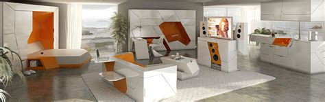 Small Apartment Zinging With Color by Futuristic Minimalist Furniture