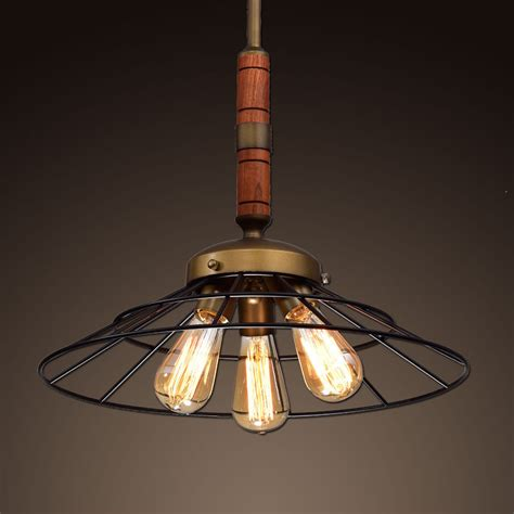 ecopower vintage metal wood chandelier kitchen pendant