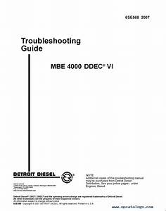 Detroit Diesel Mbe Training Center Support Documentation