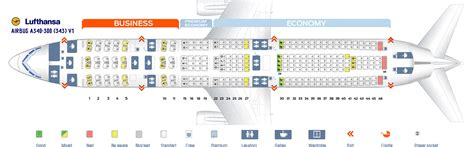 airbus a340 300 stoelindeling seat map airbus a340 300 lufthansa best seats in plane