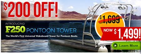 Pontoon With Wakeboard Tower For Sale by Wakeboard Towers And Accessories On Sale At H2o Sports