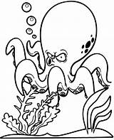 Coloring Pages Octopus Funny Sheet Printable Topcoloringpages Children sketch template