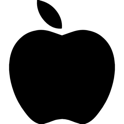 Apple black fruit shape - Free food icons