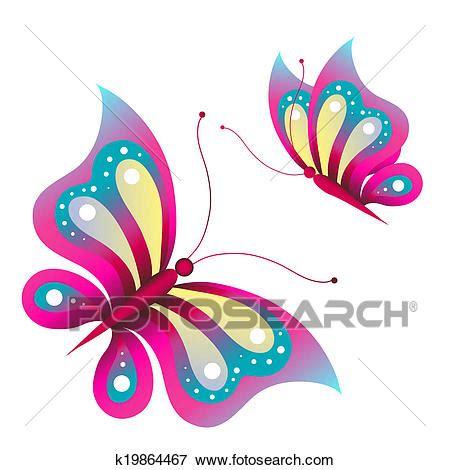 farfalle clipart farfalle disegno archivio illustrazioni k19864467
