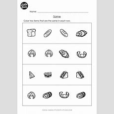 Free Same And Different Worksheet For Prek  Free Prek Math Worksheets And Activities