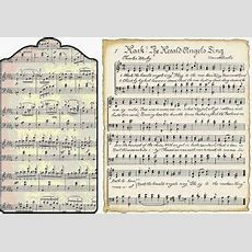 Today's Freebie Printable Vintage Music Tags And Song Sheets (all)  Vintage Christmas Music