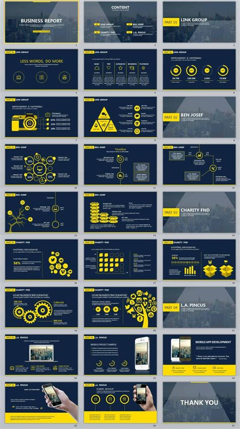 business report creative powerpoint template