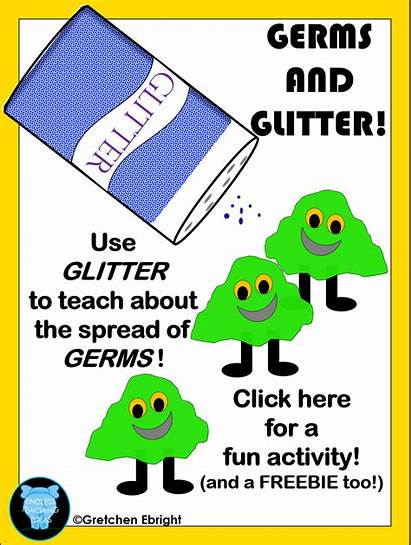 Germs Activity Glitter Spread Worksheets Preschool Fun