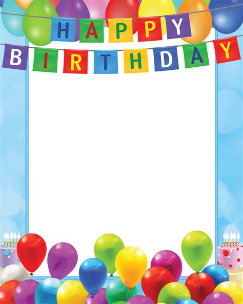 happy birthday frame clipart clipground