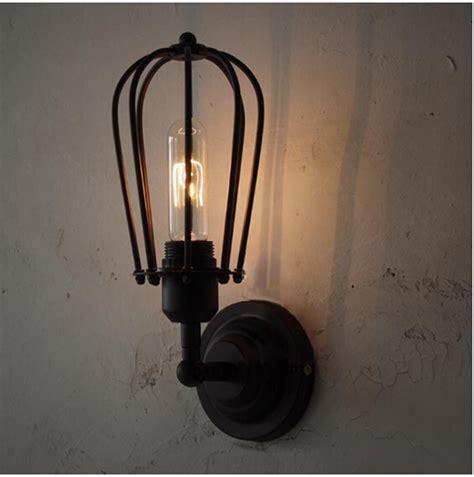 vintage rh type single cages wall l edison light