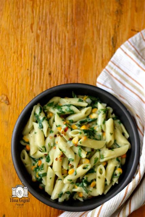creamy spinach pasta   wheat white sauce fun food