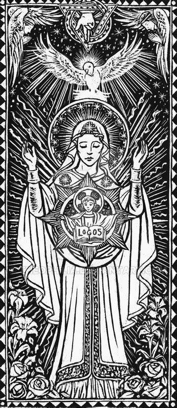 art therapy coloring page virgin mary magnificat