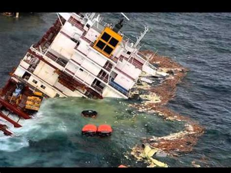 Ship Accident by Container Ship Accidents Container Ship Sinking Youtube
