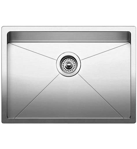 blanco kitchen sinks stainless steel blanco 521484 quatrus 28 quot single bowl undermount stainless 7919