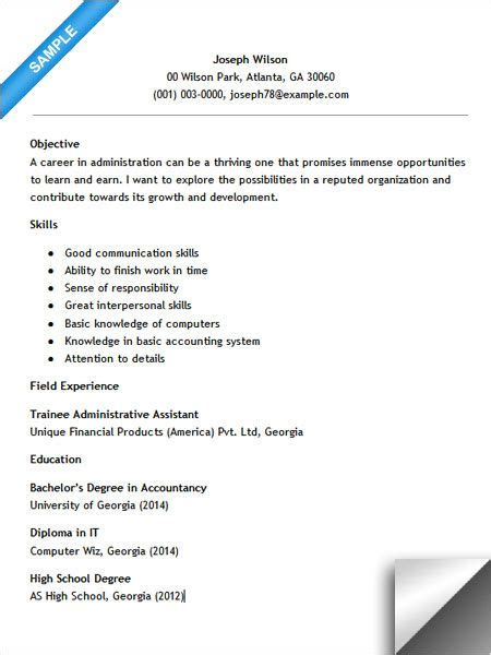 Entry Level Administrative Assistant Resume by Entry Level Administrative Assistant Resume Resume