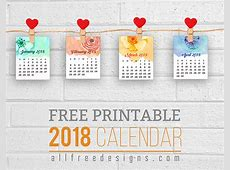 Printable Mini Calendars for 2018 to Download Free
