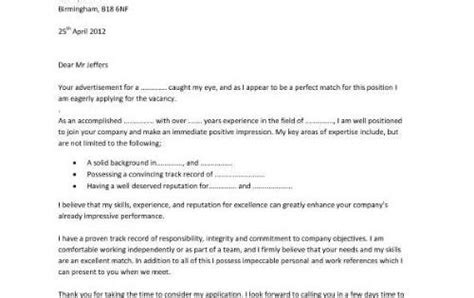 professionally designed cover letter sle that uses bullet points to emphasis key skills