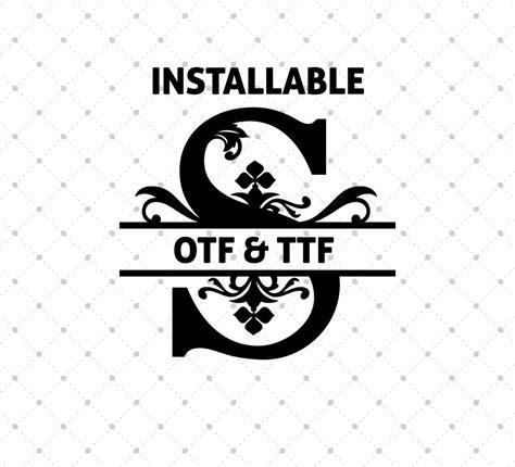 installable regal split font otf  ttf format svg cut studio